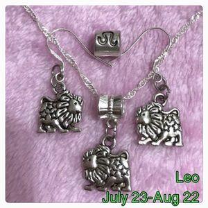 Jewelry - Leo Zodiac Necklace, Earrings, Leo European Charm